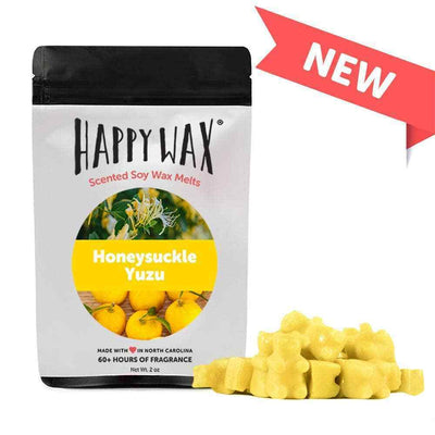 Happy Wax 2 oz Teddy Bear Scented Wax Melts - Honeysuckle Yuzu - Piglet's Closet
