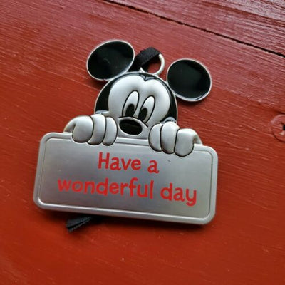 Hallmark Disney Mickey Mouse Have a Wonderful Day Metal Flat Gift Ornament - Piglet's Closet