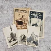 1927 Hamburg American Line Ship Passenger List and Photographs Advertising - Piglet's Closet