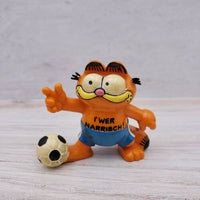 Vintage Bully Garfield the Cat Soccer Player West Germany PVC Figure Toy - Piglet's Closet