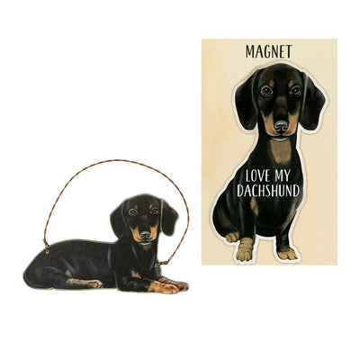 Primitives by Kathy Dog Magnet and Ornament Set - Dachshund - Piglet's Closet