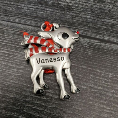 Hallmark Rudolph The Red Nosed Reindeer VANESSA Christmas Ornament