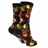 Disney Food Icons Collection Pretzel Cupcake Socks - Youth Medium - Piglet's Closet