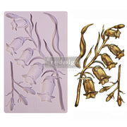 "Sweet Bellflower - Re-design with Prima 5"" x 8"" Silicone Decor Mould - Piglet's Closet"