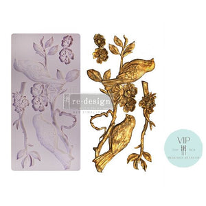 "Blossoming Spring - VIP Exclusive Re-design with Prima Silicone Mould 5"" x 10"" - Piglet's Closet"