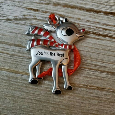 Hallmark Rudolph The Red Nosed Reindeer You're the Best Metal Ornament - Piglet's Closet