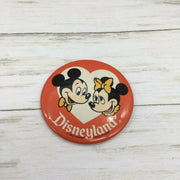 "Vintage Disneyland Character Button Pin 3.25"" Mickey Minnie Mouse - Piglet's Closet"