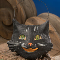 Bethany Lowe Designs Halloween Happy Black Cat Bucket - Piglet's Closet