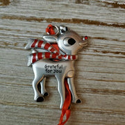 Hallmark Rudolph The Red Nosed Reindeer Grateful for You Metal Ornament - Piglet's Closet