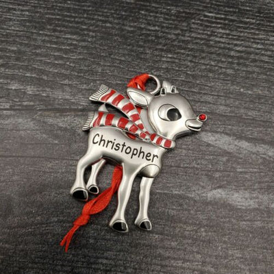 Hallmark Rudolph The Red Nosed Reindeer CHRISTOPHER Christmas Ornament