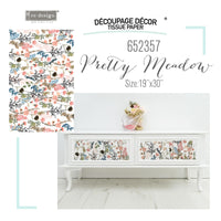 Pretty Meadows Re-design with Prima Mulberry Tissue Decoupage Paper - Piglet's Closet