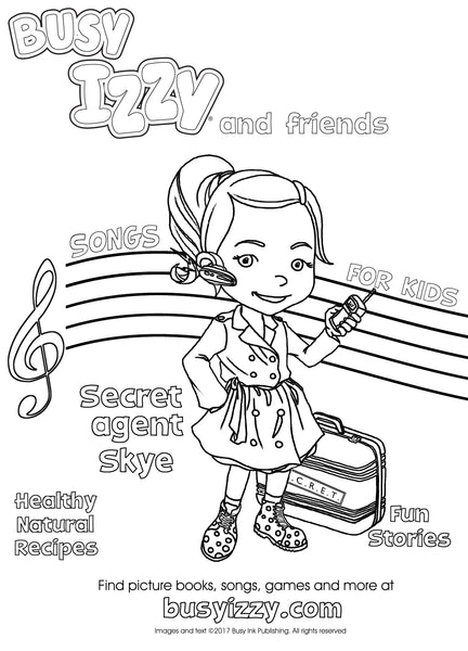Colour in Secret-agent Skye