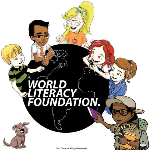 Busy Izzy and Friends love the World Literacy Foundation