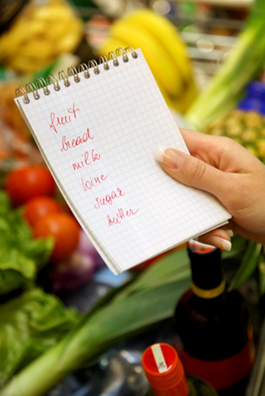 Forget the old pen and paper method of recording a grocery list - add a stick on whiteboard to your fridge to note which items are running low