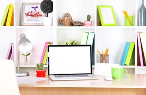 Increase creativity in your home office by adding color and utilizing a variety of tools.