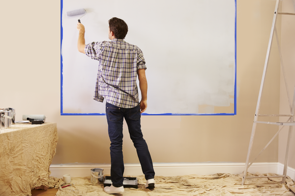 How to paint on a whiteboard