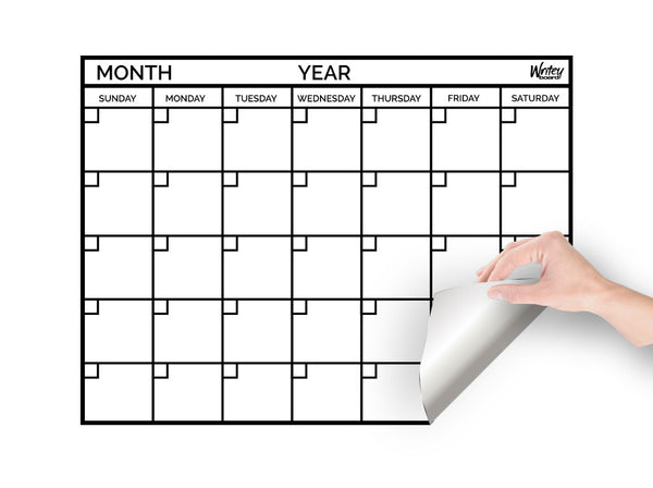 Dry Erase Monthly Calendar Monthly Calendar Whiteboard