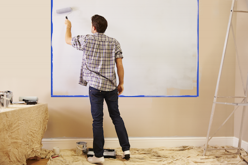 dry erase wall paint whiteboard paint for walls writeyboard. Black Bedroom Furniture Sets. Home Design Ideas