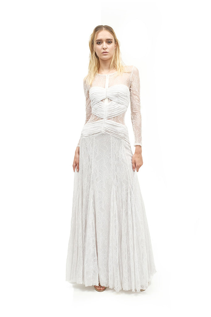 Lydia Long Slevees Lace Gown
