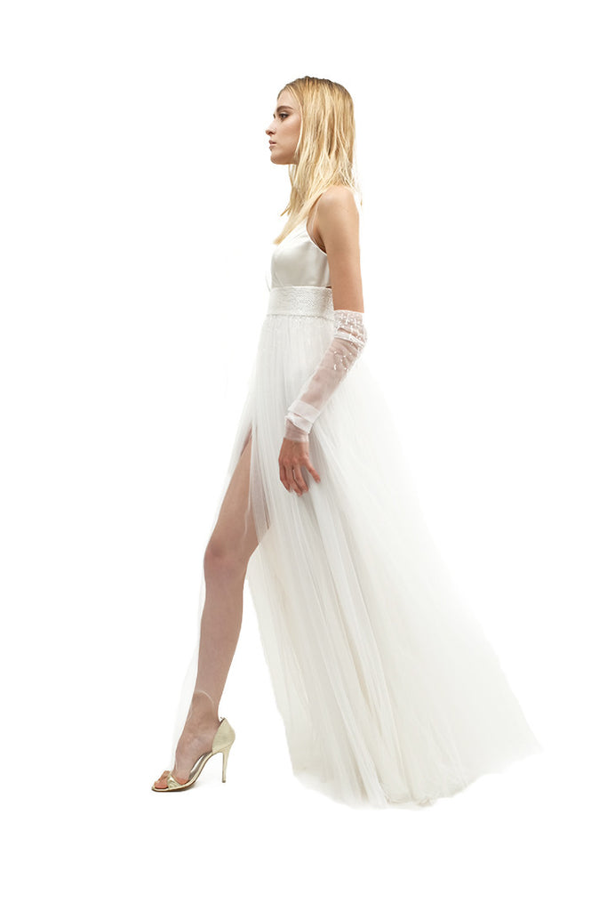 Penelope Beaded Tulle Gown