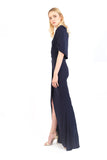Helen Wrap Effect Gown