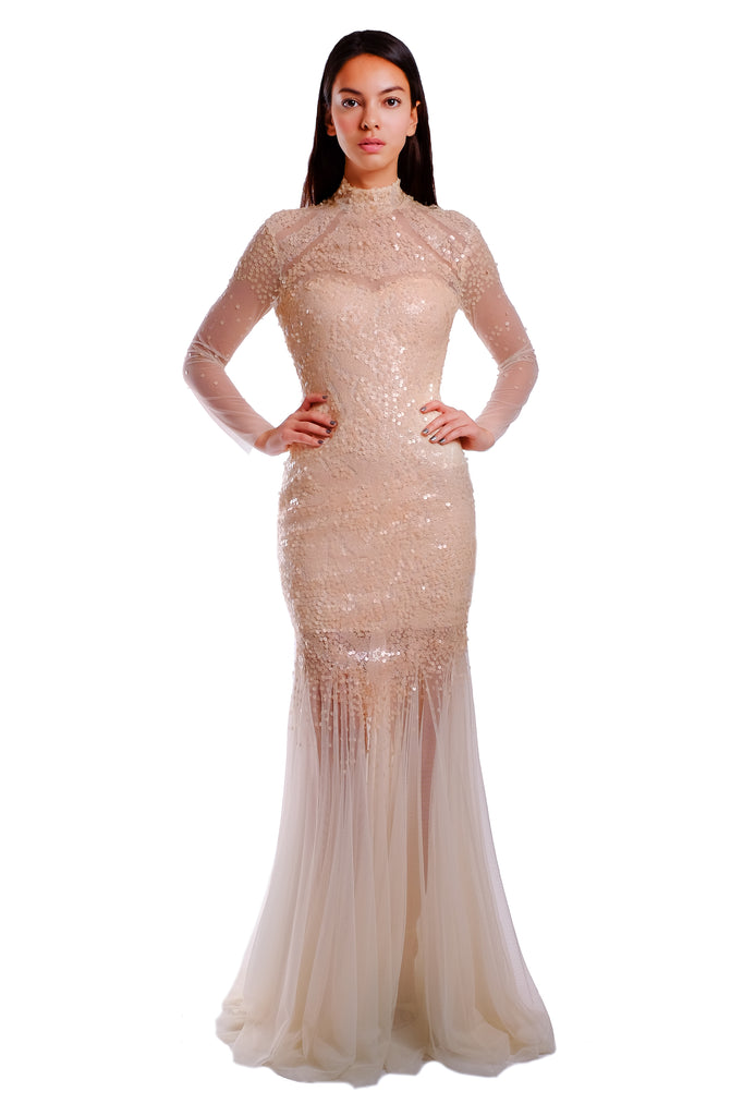 Rebecca Sequins Mermaid Gown