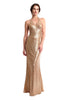 Gianna Halter Sequins Gown (Gold)