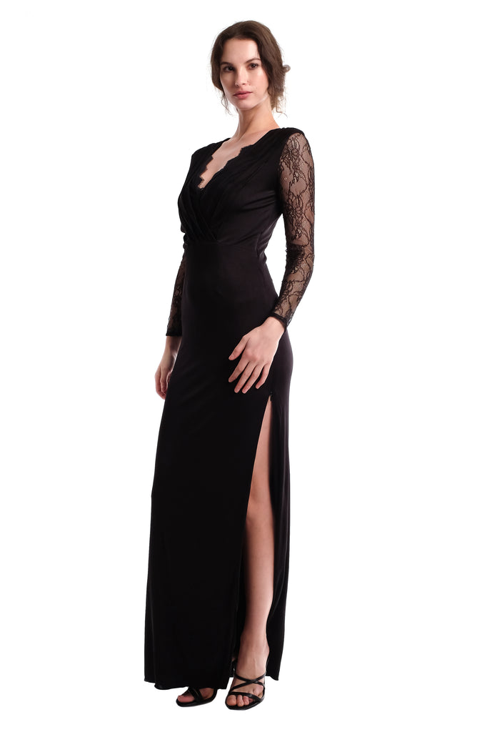Diana Lace Sleeves Gown