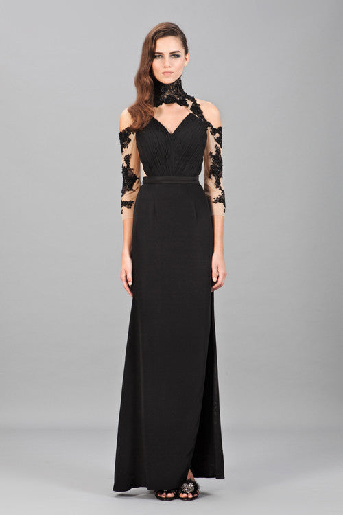 Elizabeth Lace Hand-Sewn Embellished Gown
