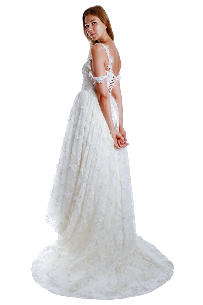Jofina Tulle Lace Gown