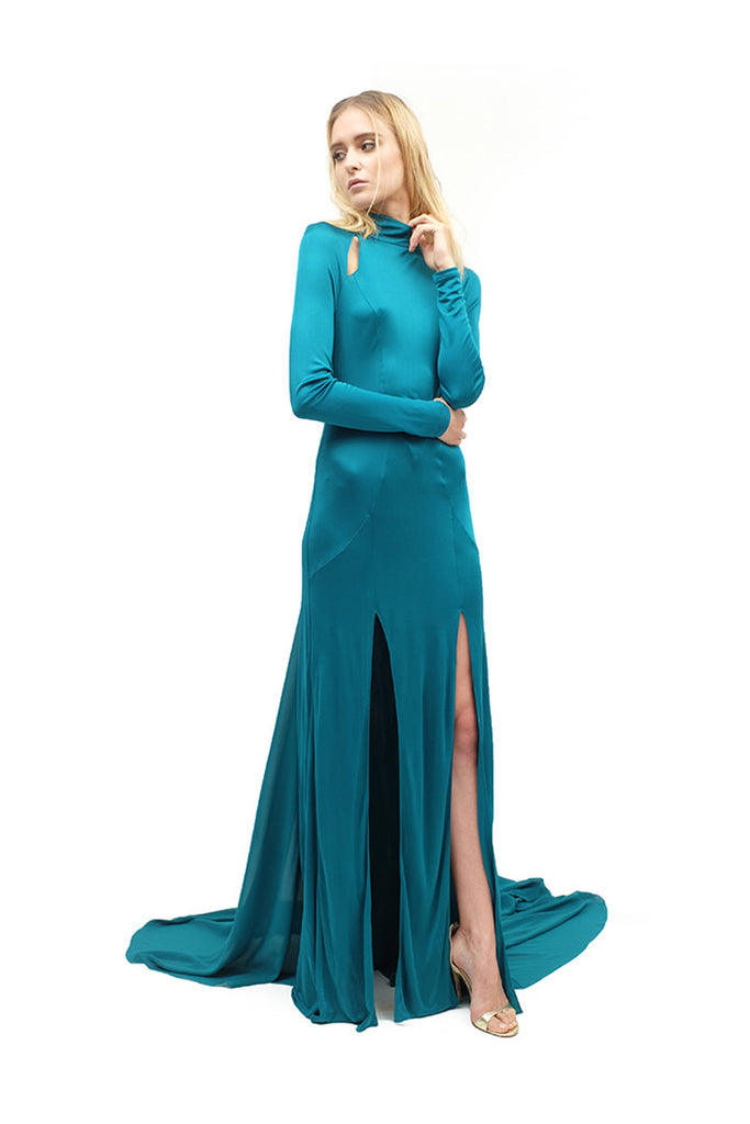 Ronney Liquid Jersey Gown