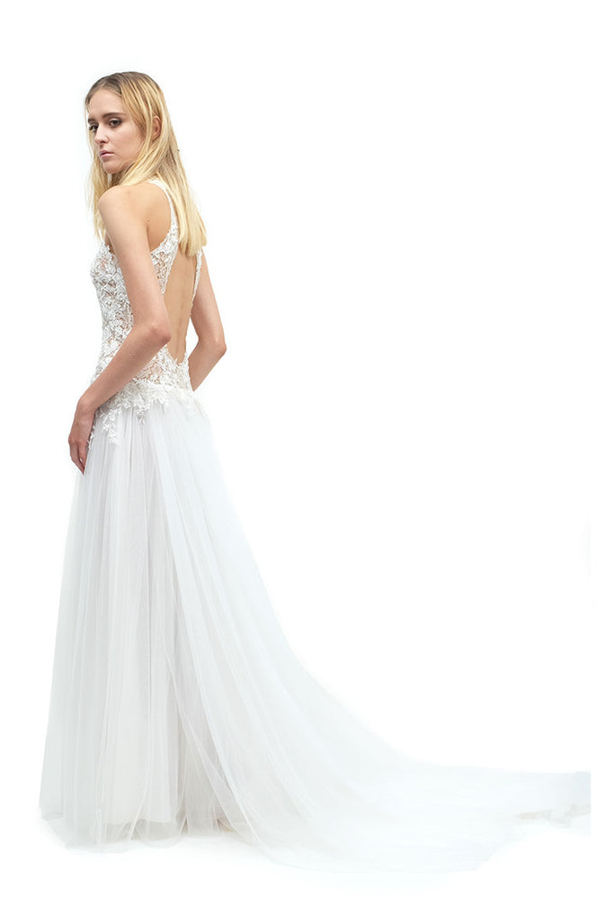 Yulianna Lace Open-back Gown