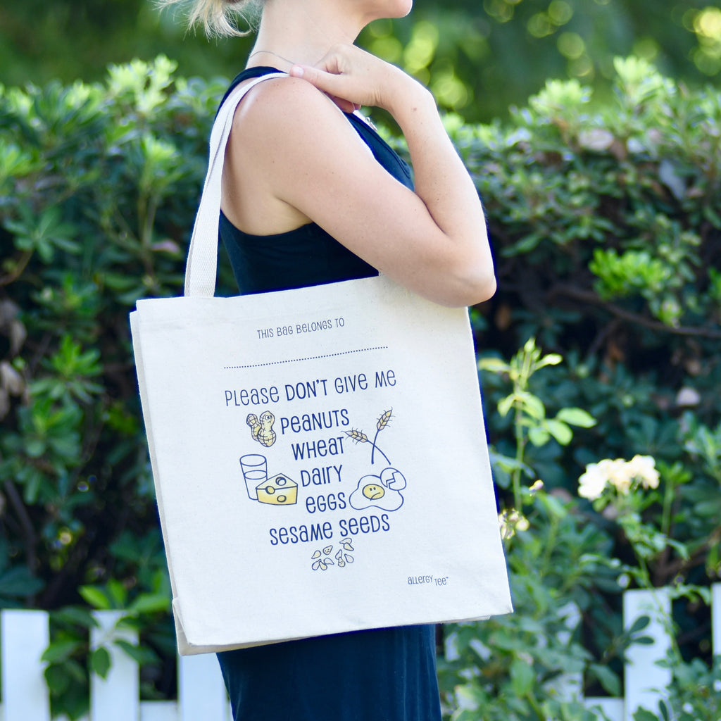 Custom Allergy Tote Bag