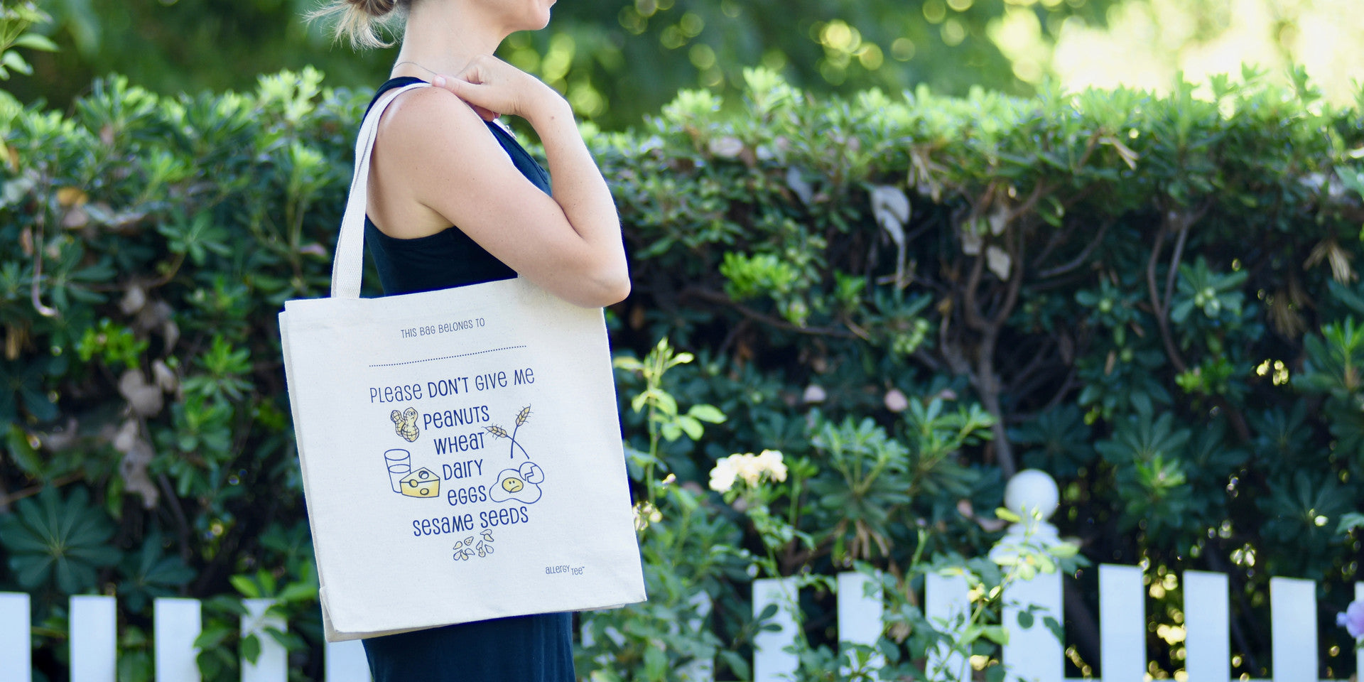 Custom Allergy Alert Tote Bag