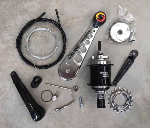 Hub - Rear 3 Speed w Suicide Stick Shift kit