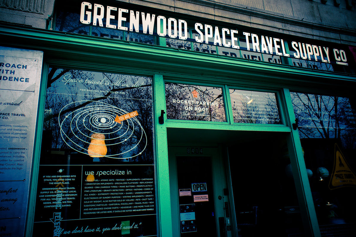 Greenwood Space Travel Supply Co. in Seattle, WA