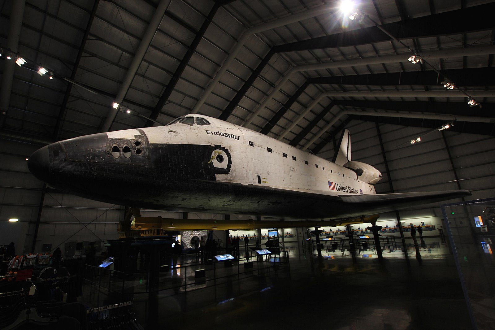 Space Shuttle Endeavour, located at the California Science Center