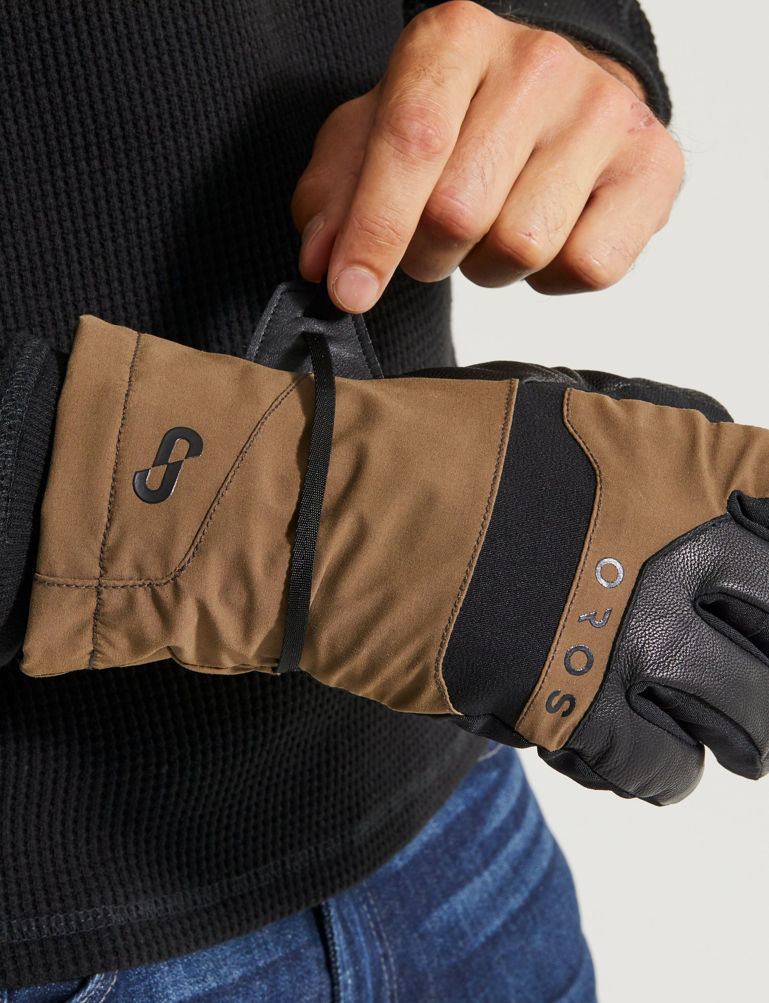Men's Endeavour Gloves, color:Teak