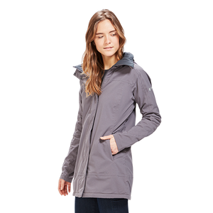 Woman wearing the Orion Parka, color:Carin