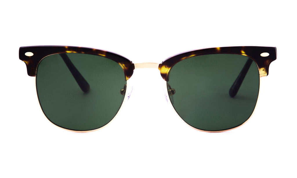 Copeland in Golden Tortoise + Green Sunglasses