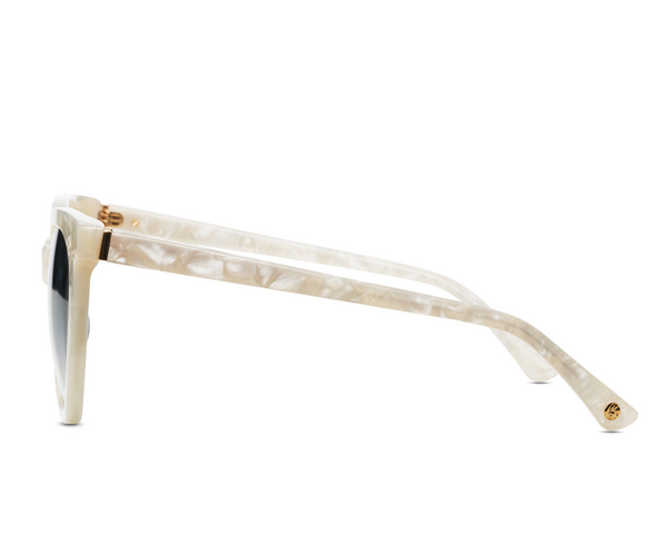 Beverly in Pearl Marble + Grey Gradient Brightside Sunglasses
