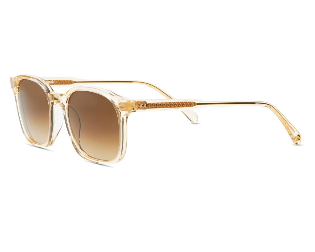Dean in Champagne Crystal + Brown Gradient Brightside Sunglasses