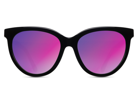 Beverly in Black + Flash Violet Gradient Mirror