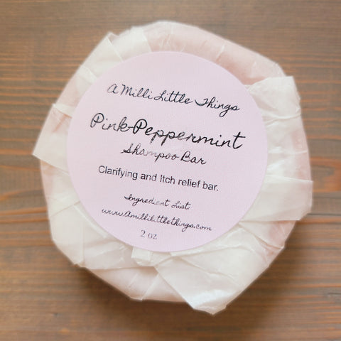 Pink Peppermint Shampoo Bar