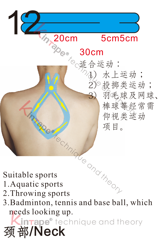 Kintape application of neck for sports
