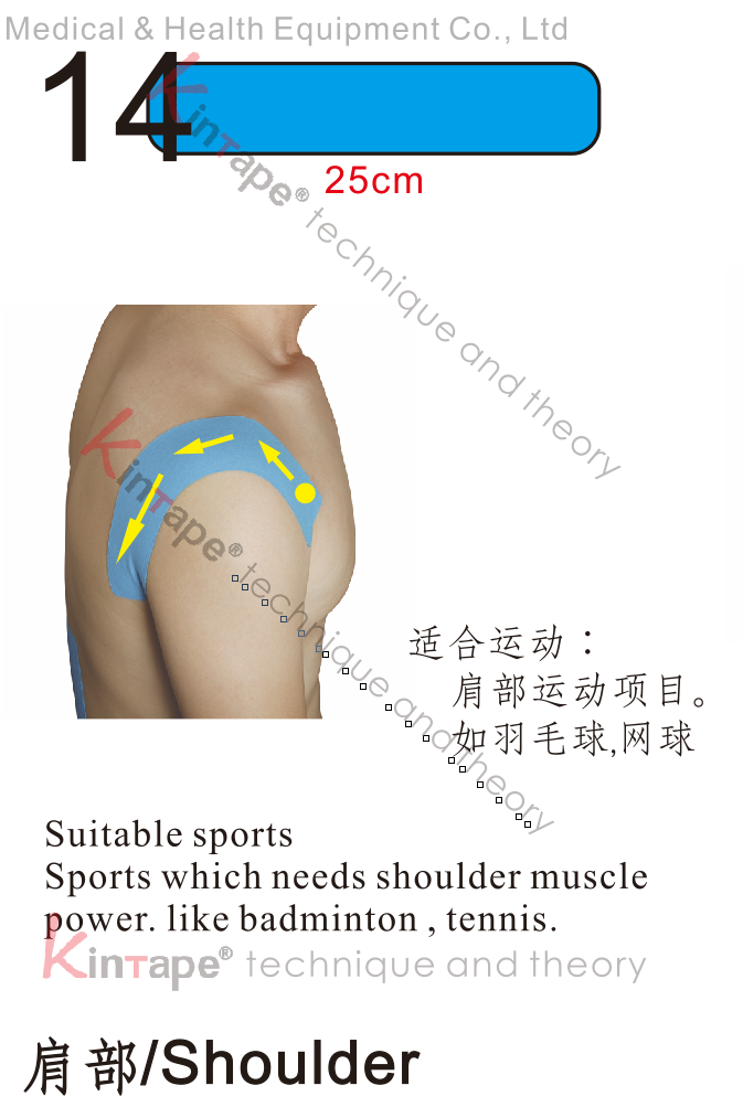 Kintape application of Shoulder for sports