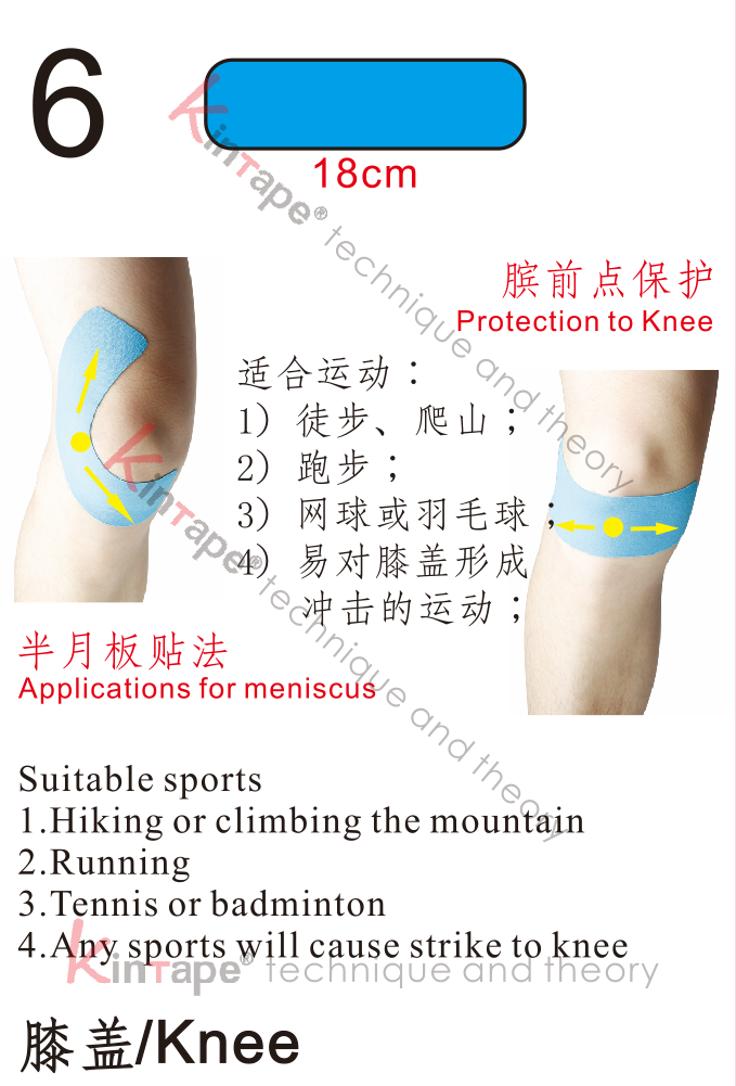 How to protect the knee in sports with kintape