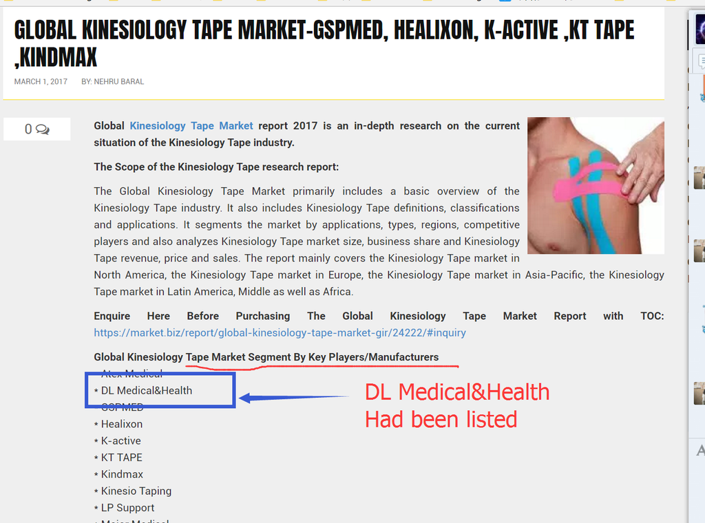 kinesiology tape market research report lised DL Medical&Health 2