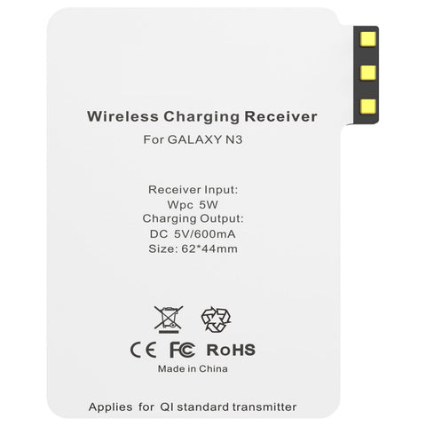 Qi Wireless Charging Card Receiver for Samsung Galaxy Note 3