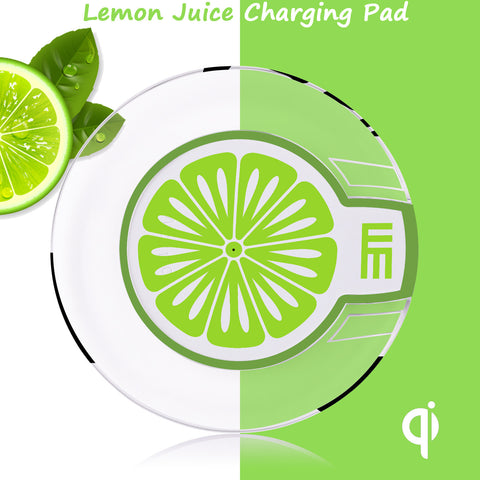 Single Coil Qi Wireless Charging Pad Transmitter - Lime Green